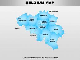 Belgium Powerpoint Maps