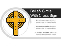 Belief Circle With Cross Sign