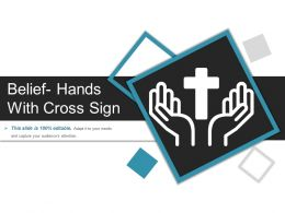 Belief Hands With Cross Sign