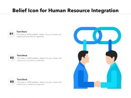 Belief Icon For Human Resource Integration