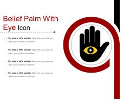 Belief Palm With Eye Icon
