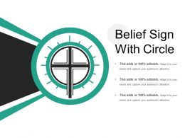 Belief Sign With Circle