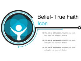 Belief True Faith Icon