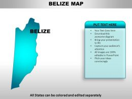 Belize Country Powerpoint Maps
