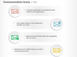 Bell Alarm Delete Accepted Emails Ppt Icons Graphics