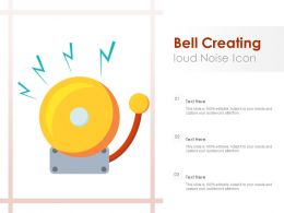 Bell Creating Loud Noise Icon