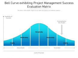 Bell Curve Exhibiting Project Management Success Evaluation Matrix