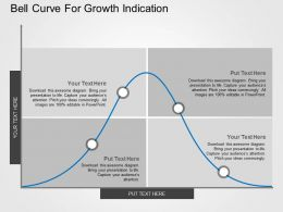 Bell Curve For Growth Indication Flat Powerpoint Design