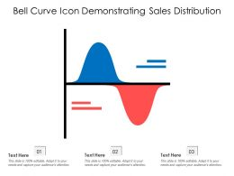 Bell Curve Icon Demonstrating Sales Distribution