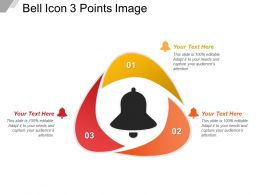 Bell Icon 3 Points Image