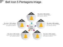 Bell Icon 5 Pentagons Image
