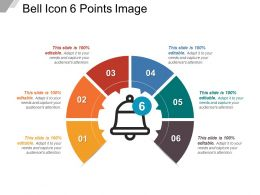Bell Icon 6 Points Image