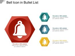 Bell Icon In Bullet List