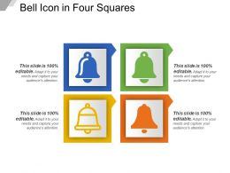 Bell Icon In Four Squares