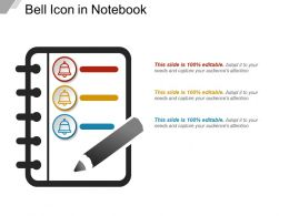 Bell Icon In Notebook