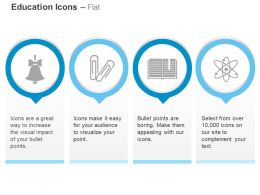 Bell Paper Clips Book Mark Atoms Ppt Icons Graphics