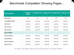 Benchmark Competition Showing Pages Indexed And Social Media Profiles