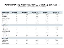 Benchmark Competition Showing SEO Marketing Performance