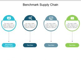 Benchmark Supply Chain Ppt Powerpoint Presentation Pictures Demonstration Cpb
