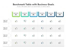 Benchmark Table With Business Goals