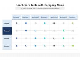 Benchmark Table With Company Name