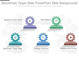 Benchmark Target State Powerpoint Slide Backgrounds