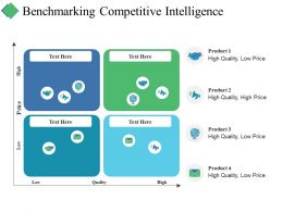 Benchmarking Competitive Intelligence Ppt Summary Graphics Download