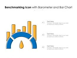 Benchmarking Icon With Barometer And Bar Chart