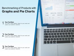 Benchmarking Of Products With Graphs And Pie Charts