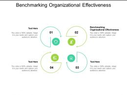 Benchmarking Organizational Effectiveness Ppt Powerpoint Presentation Infographic Template Design Ideas Cpb