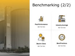 Benchmarking Performance Ppt Powerpoint Presentation Icon Design
