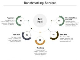Benchmarking Services Ppt Powerpoint Presentation Icon Designs Download Cpb
