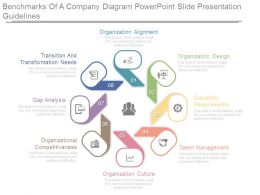 Benchmarks Of A Company Diagram Powerpoint Slide Presentation Guidelines