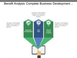 Benefit Analysis Complete Business Development Customer Service Executive Management
