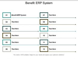 Benefit ERP System Ppt Powerpoint Presentation Styles Skills Cpb