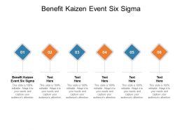 Benefit Kaizen Event Six Sigma Ppt Powerpoint Presentation Show Outline Cpb