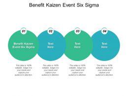 Benefit Kaizen Event Six Sigma Ppt Powerpoint Presentation Slides Cpb