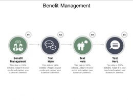 Benefit Management Ppt Powerpoint Presentation Infographics Guidelines Cpb