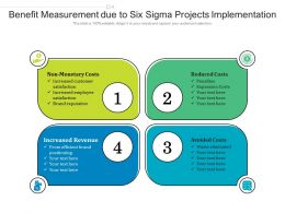 Benefit Measurement Due To Six Sigma Projects Implementation