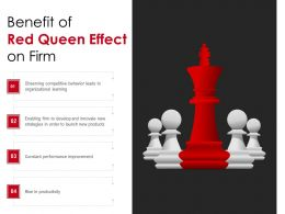 Benefit Of Red Queen Effect On Firm