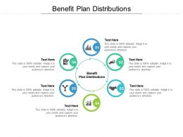 Benefit Plan Distributions Ppt Powerpoint Presentation Model Guidelines Cpb
