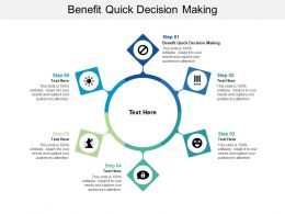 Benefit Quick Decision Making Ppt Powerpoint Presentation Ideas Cpb