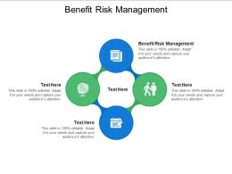 Benefit Risk Management Ppt Powerpoint Presentation Infographics Slide Download Cpb