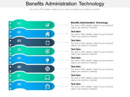 Benefits Administration Technology Ppt Powerpoint Presentation Icon Good Cpb