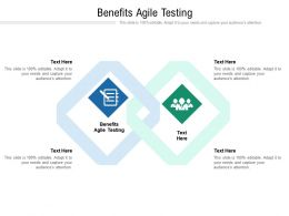 Benefits Agile Testing Ppt Powerpoint Presentation Infographics Demonstration Cpb