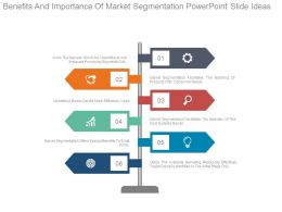 Benefits And Importance Of Market Segmentation Powerpoint Slide Ideas