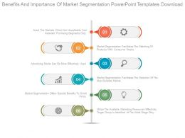 Benefits And Importance Of Market Segmentation Powerpoint Templates Download