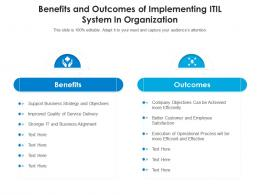 Benefits And Outcomes Of Implementing ITIL System In Organization