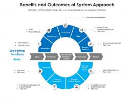 Benefits And Outcomes Of System Approach