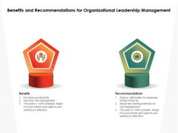 Benefits And Recommendations For Organizational Leadership Management
